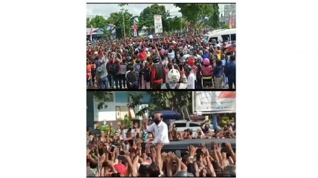 5 Fakta Kerumunan Warga Sambut Jokowi, Abai Prokes dan Pusingkan Paspampres
