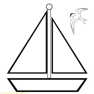 Mewarnai Gambar Kapal Laut - 1