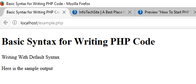 Default Syntax for Writing PHP Code