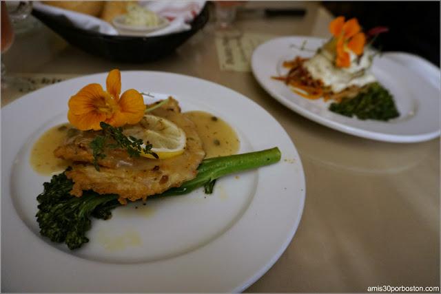 Platos Principales del Menú del Restaurante Pickity Place en Mason, New Hampshire