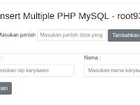Tutorial PHP Membuat Multiple Insert Data