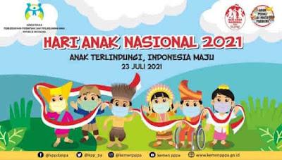 desain spanduk hari anak nasional