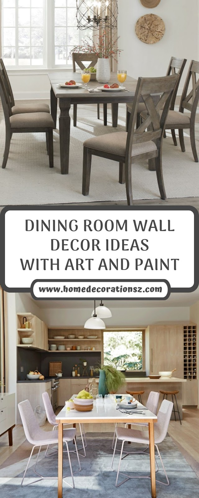 DINING ROOM WALL DECOR IDEAS WITH ART AND PAINT