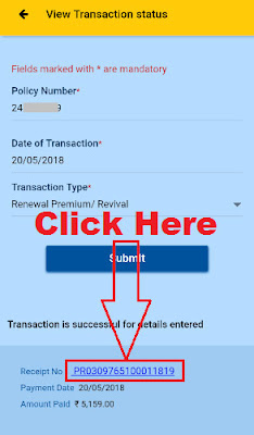 how to download lic online payment receipt