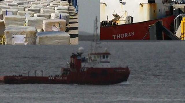 """""""Μπλόκο"""" σε πλοίο που μετέφερε 3,7 τόνους κοκαΐνη!!!"""