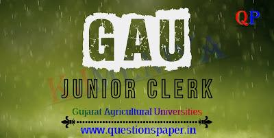Gujarat Agricultural Universities (GAU) Junior Clerk Question Paper   Official Final Answer Key (29-12-2019)