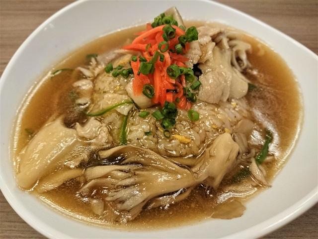 蘭々の湯 舞茸のあんかけ炒飯