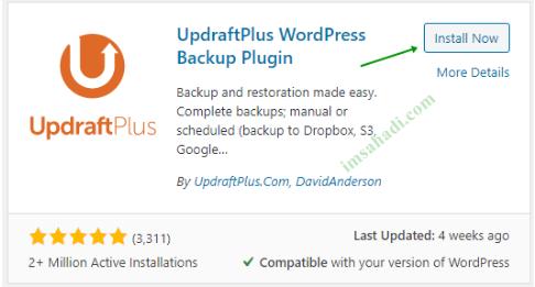 Cara Menggunakan Plugin UpdraftPlus