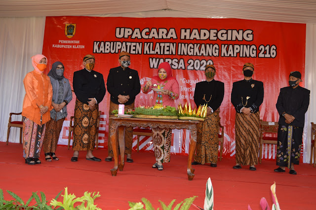 Berbusana Kejawen Dandim 0723/Klaten Hadiri Peringatan Hari Jadi Kabupaten Klaten Ke 216