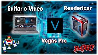 """Como Editar um Vídeo em um """"Computador é Renderizar em Outro"""" no [VEGAS Pro]"""