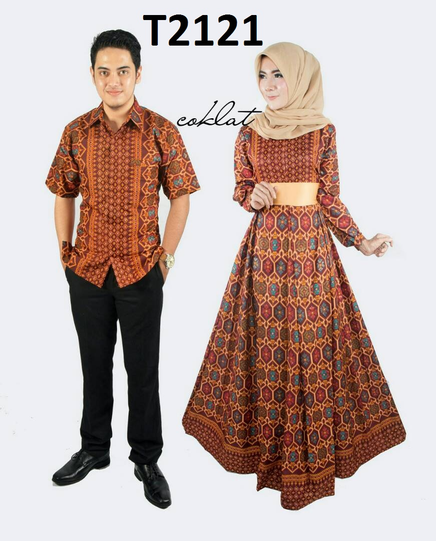 bd74dbc10e4 BATIK COUPLE MODEL GAMIS EKSKLUSIF TERBARU T2121