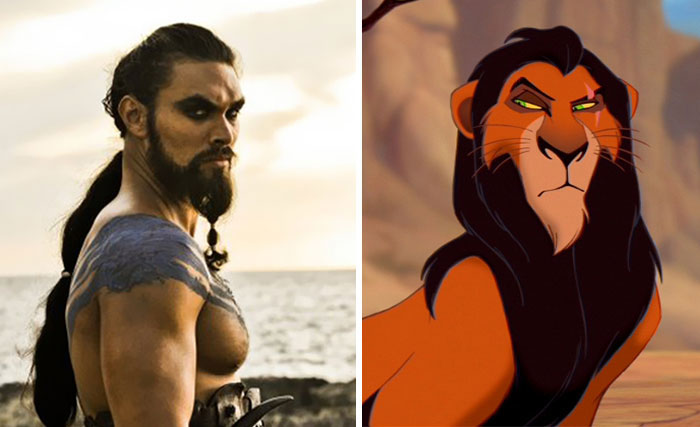 #4 Khal Drogo Looks Like Scar From Lion King