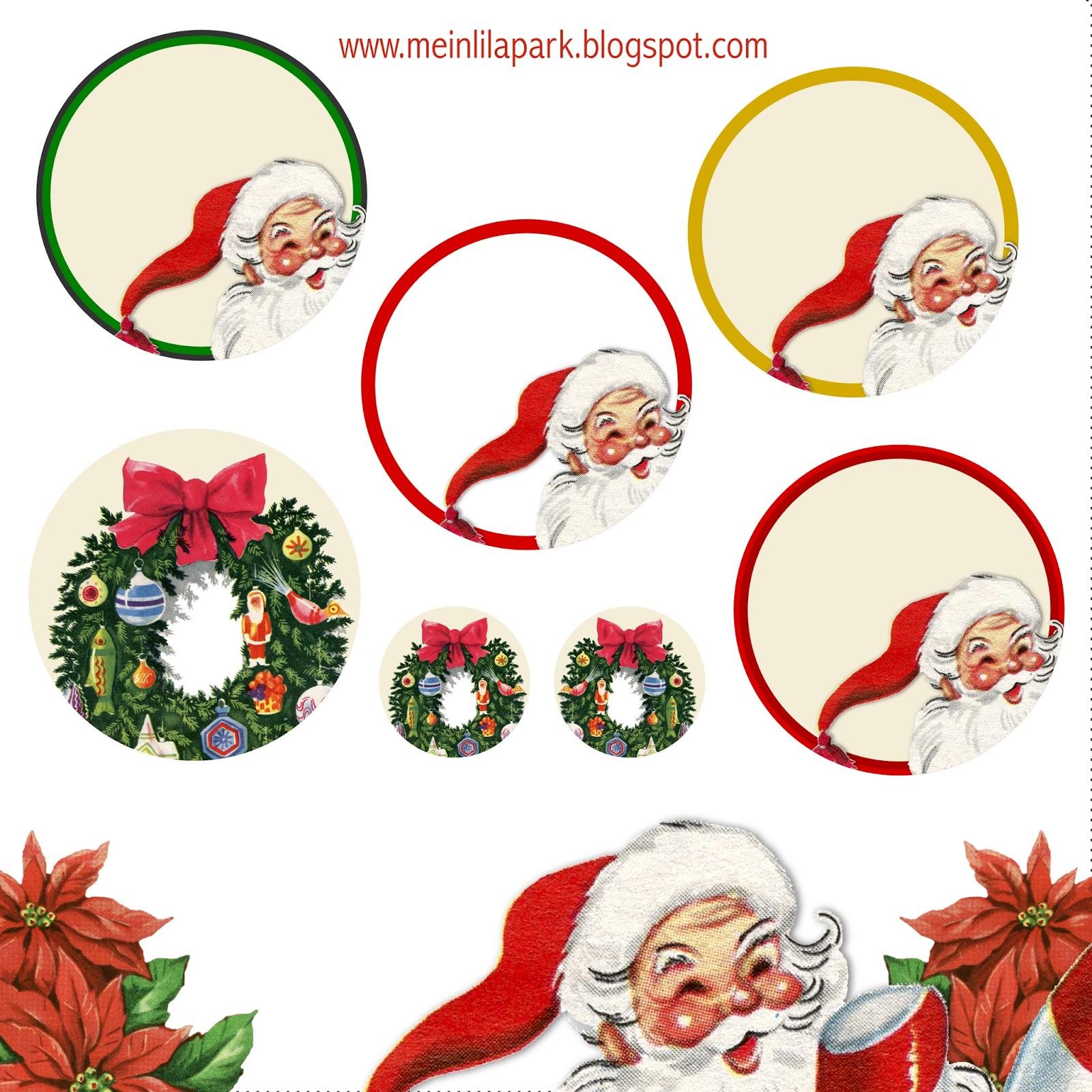 Free printable Christmas planner stickers - ausdruckbare