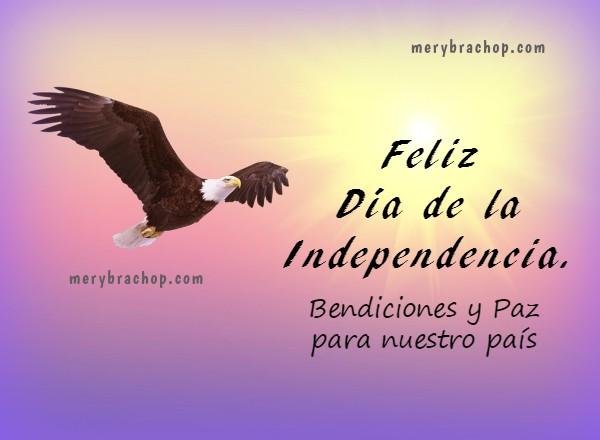 frases de independencia de país, 4 julio, USA, 5 Julio Venezuela, feliz día de la independencia imagen para facebook por Mery Bracho