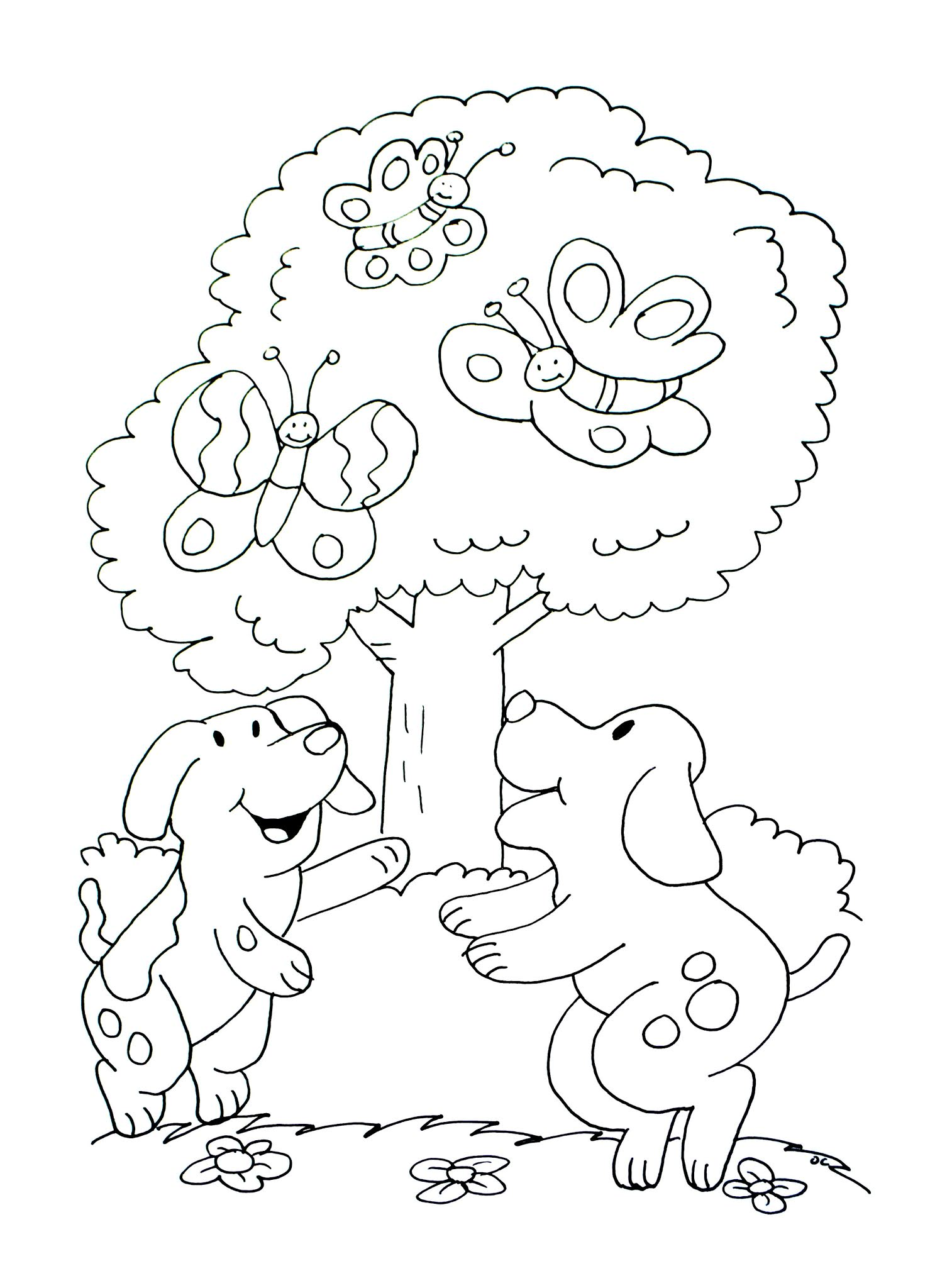 Dogs coloring pages 61