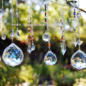 JG Beaded Jewelry: Hanging Prism Crystal Sun Catchers