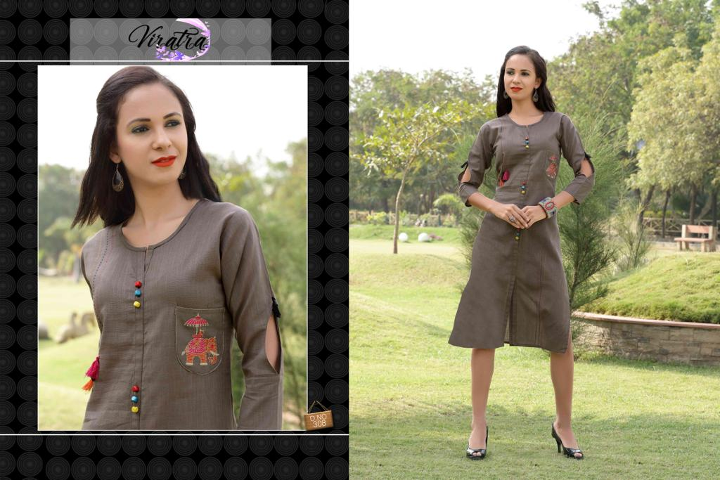 Viratra diva vol 3 cotton slub Kurtis Catalog Collection