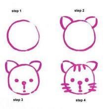 Learn to draw cat for kids