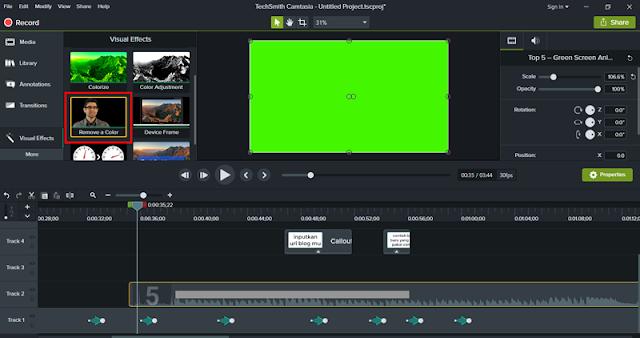 Cara Edit Video Green Screen di Camtasia