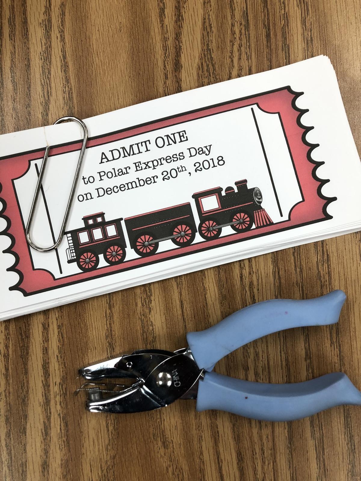 Polar Express Day In Kindergarten