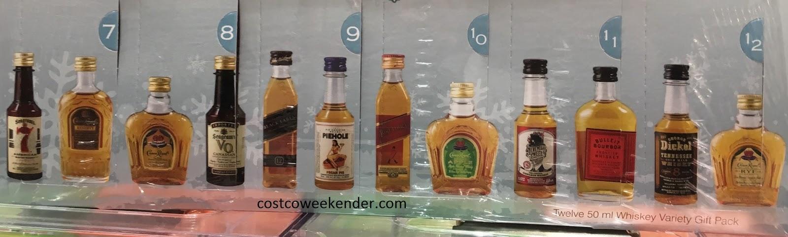 12 different bottles of whiskey