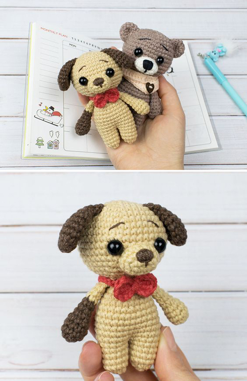 Tiny Puppy Amigurumi - Free Pattern