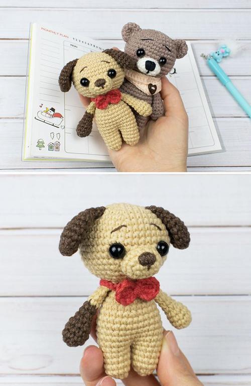 Tiny Puppy Amigurumi - Free Pattern