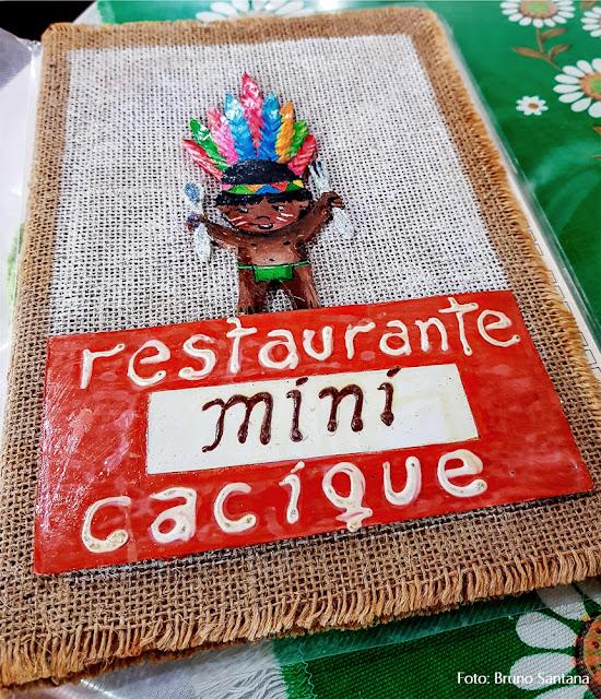 Cardápio do Restaurante Mini Cacique, casa tradicional no Centro Antigo de Salvador