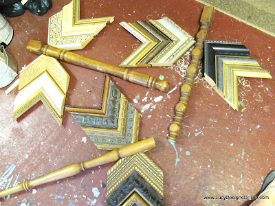 making dragonflies with picture molding scraps