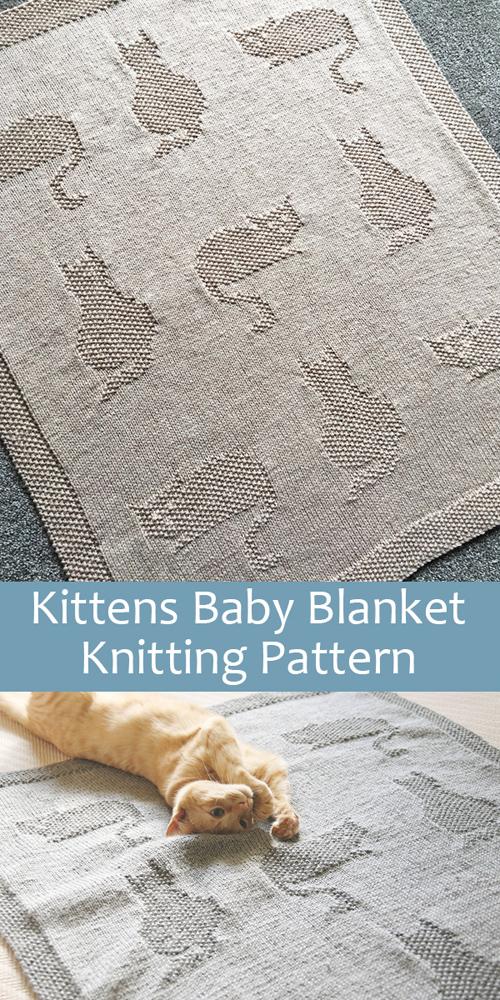 Kittens Baby Blanket - Knitting Pattern