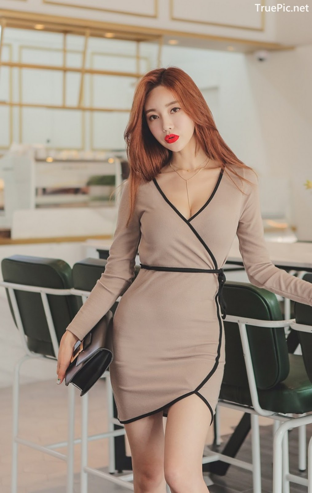 Image Korean Fashion Model - Hyemi - Office Dress Collection - TruePic.net - Picture-9
