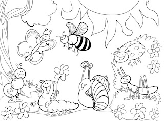 Cute Insect Coloring Sheet For Kids