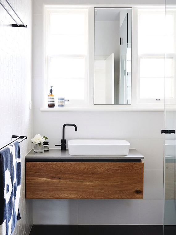 Black fixtures in the bathroom | My Paradissi