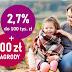 2,7% do 100 tys. zł na koncie oszczędnościowym Profit w Banku Millennium (+200 zł nagrody na start)