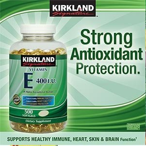 Image: Kirkland Signature Vitamin E 400 IU, 500 Softgels