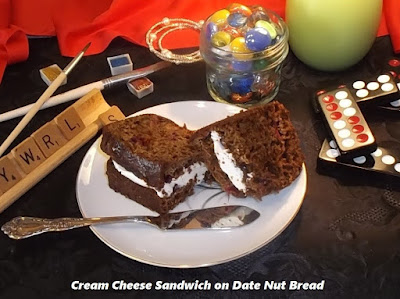 cream cheese sandwich on date nut bread photo by candy dorsey