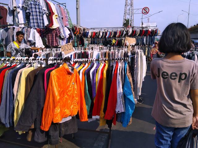 harga baju bekas di pasar senen