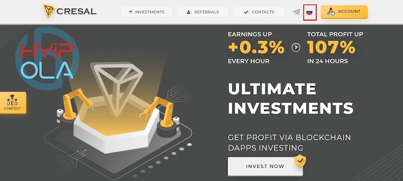 [SCAM] Review Cresal - Dự án đầu tư cực tốt lãi từ 4% hằng ngày - Thanh toán tức thì - RCB 100% tự động