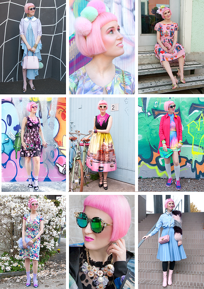 fashion blogger, pink hair, edgy style