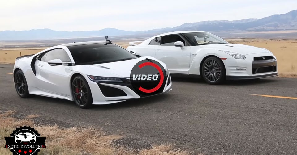 What's Quicker, The New Acura NSX Or Nissan GT-R?