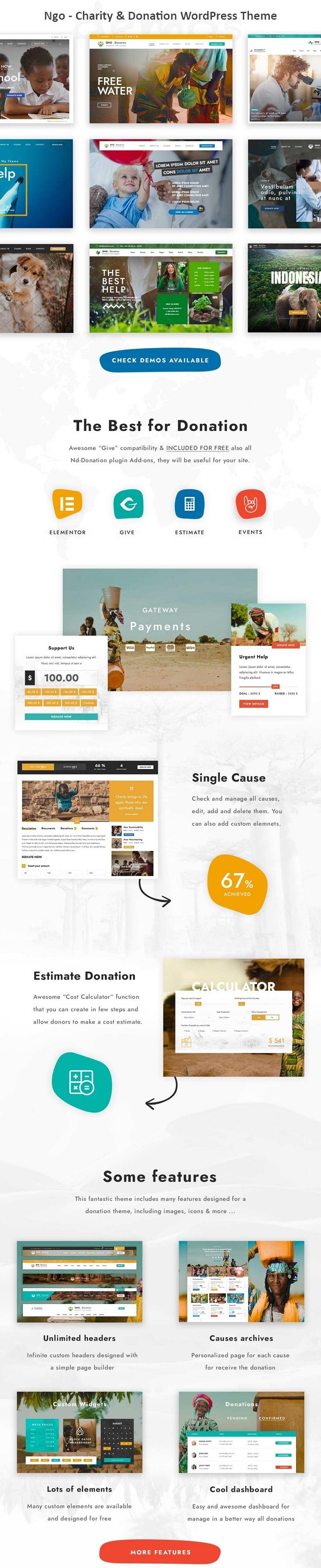Charity & Donation Premium WordPress Themes