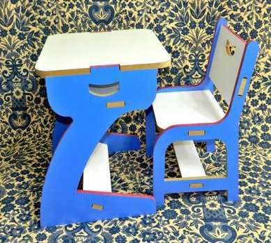Kids Table Chair Free Vector cdr file for laser cutting - cnc world