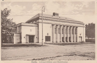 Cinema and theater Nový Bor Haida postcard