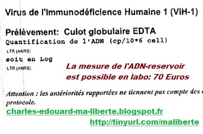 Rouzioux reservoir ADN total VIH Siliciano Hypodolu Salpetriere PCR Viral Outgrowth Essay
