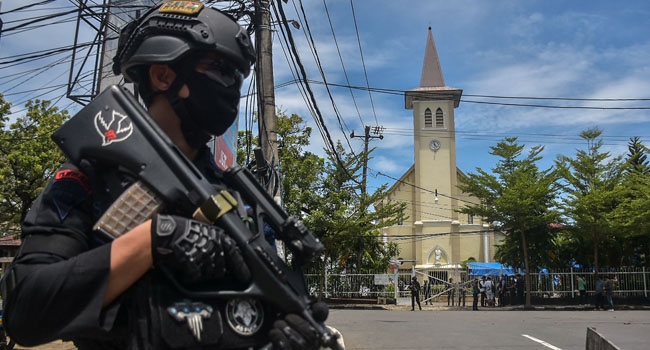 Two Bombers Suspected In Indonesia Palm Sunday Cathedral Blast