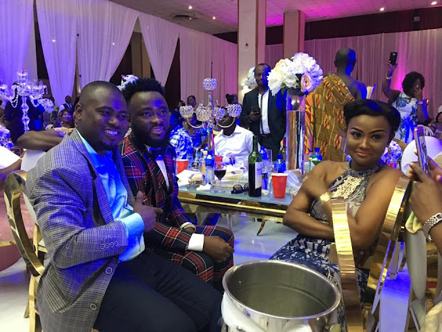 Nana Ama McBrown (Right), McBrown's Husband Maxwell Mensah (Middle) and Abeiku Santana (Left)