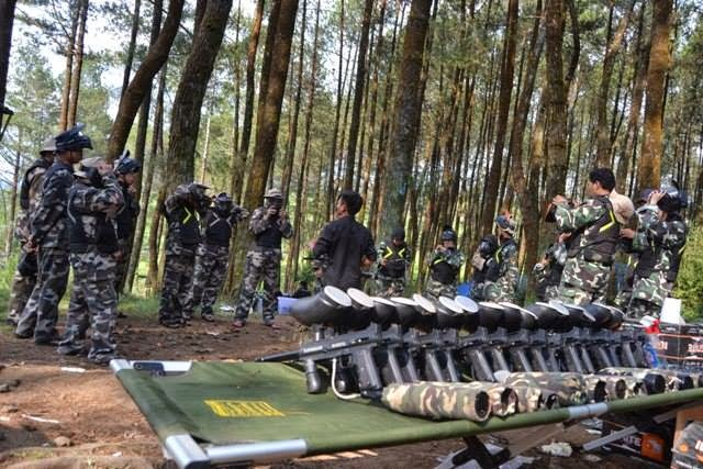 outbound lembang paintball war
