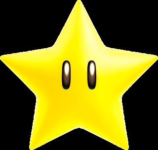 Estrella amarilla de cinco puntas