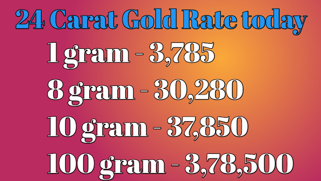 Gold Rate Today:Gold Price Today: 24 Karat & 22 Carat Gold Rates| Gold Rate Today In India