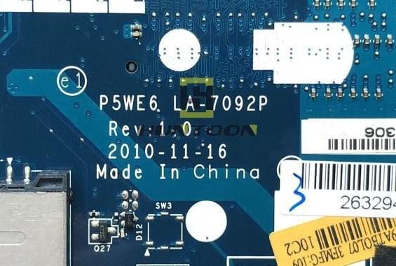 LA-7092P Rev1.0 Acer Aspire 4253 5253 Bios